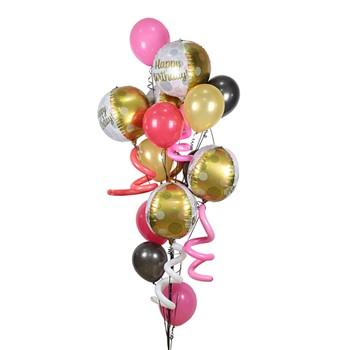 Golden Balloon Bouquet