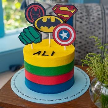 Superhero Badge Cake