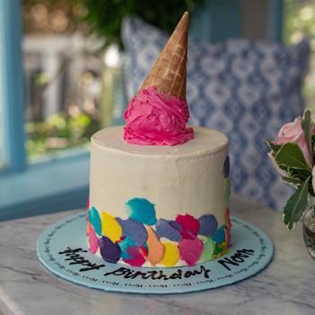 Color Spots Cake