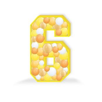 Balloon Mosaic Number 6