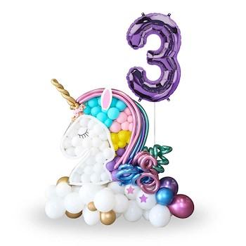 Unicorn Mosaic Balloon