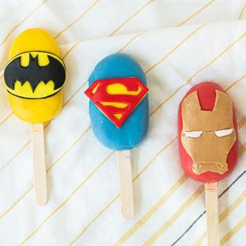 Superhero Cakesickles