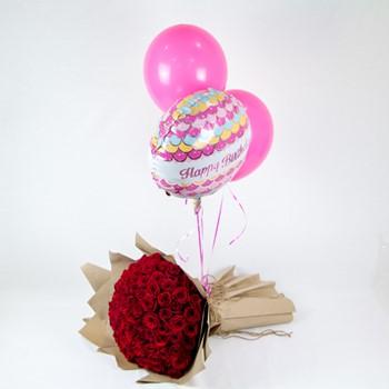 Roses and Birthday Balloons I