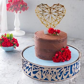 Golden Heart Chocolate Cake