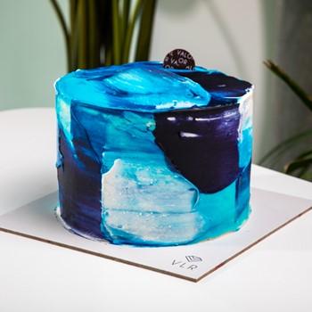 Blue Art Cake