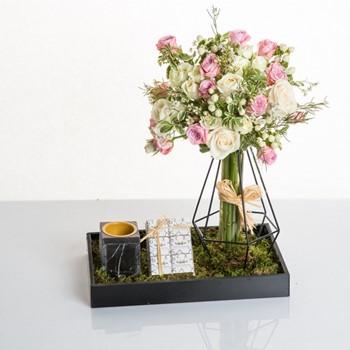 Murano Rose & White