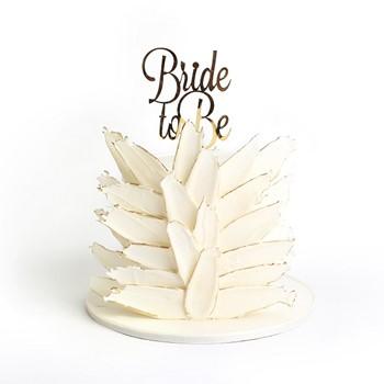 White Bride to Be cake