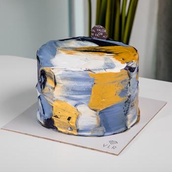 Golden Art Cake