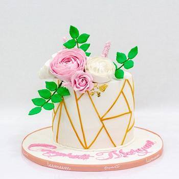 Pink Congratulations Cake