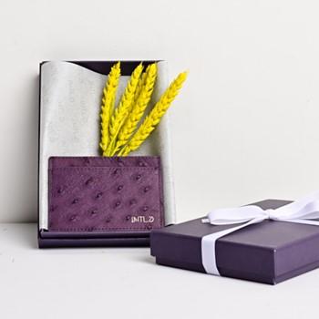 Ostrich Cardholder (Purple)