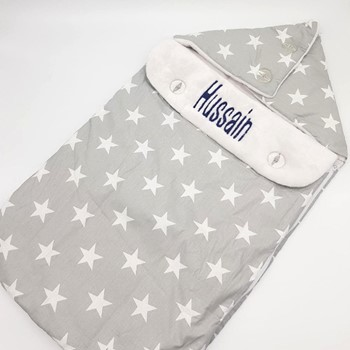 Grey Stars Sleep Bag