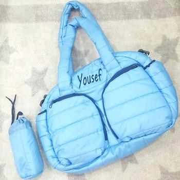 Sky Blue Puff Bag