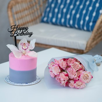 Pink Sky & Flowers