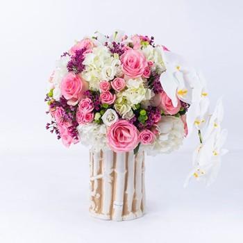 Pottery Vase Flowers 7