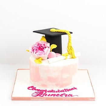 Pink Graduation Cake I