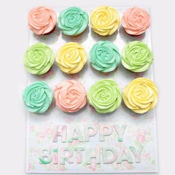 Festival Color Cupcakes