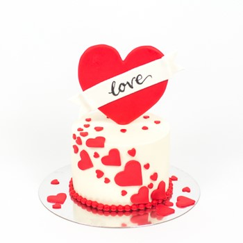 Red Heart Shaped Cake