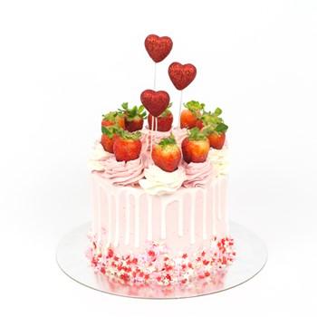 Strawberry Sprinkle Cake I