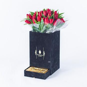 Jar Tulip Red