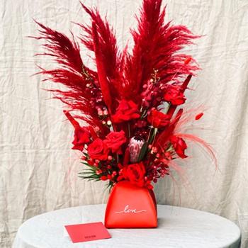 Love Leather Vase
