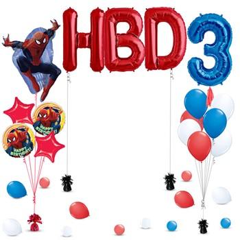 Spiderman Balloons Decoration