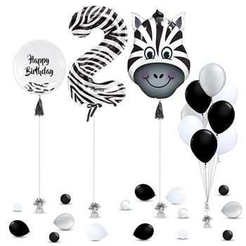 Zebra Balloons Decoration
