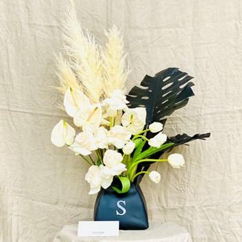 S Leather Vase
