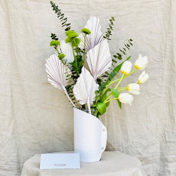 Blanche Leather Vase