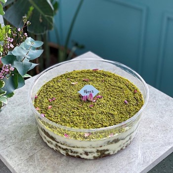 Pistachio Basbosa Trifle