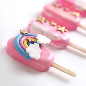 Rainbow Cakesickles