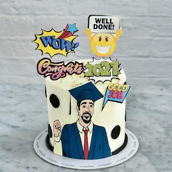 Grad Guy Cake 1