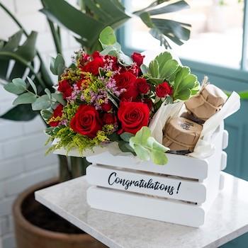 Congrats Rose Basket