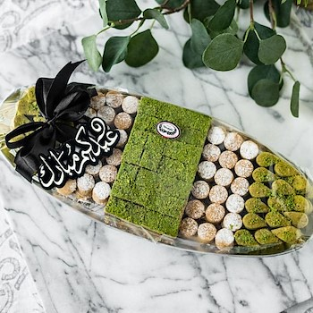 Eid Oval Sweets Tray