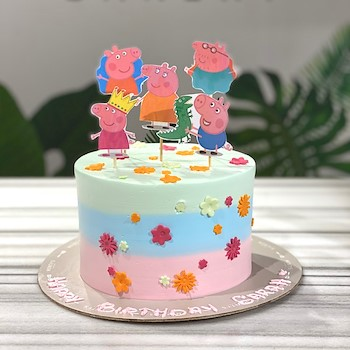 The Peppa Pig cake