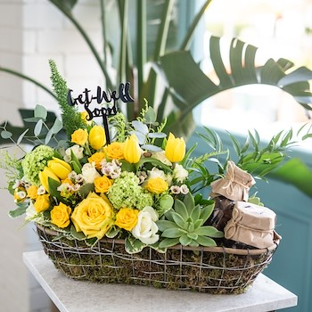 Touch Of Yellow Basket