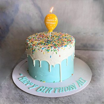 Blue Sprinkle Cake