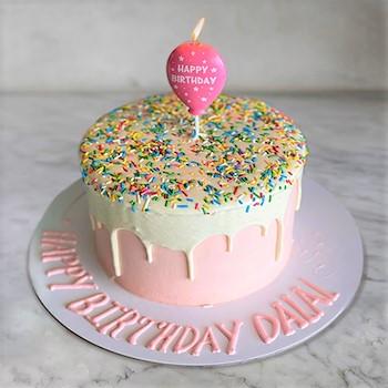 Sprinkle Cake Pink