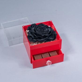Preserved Black Rose