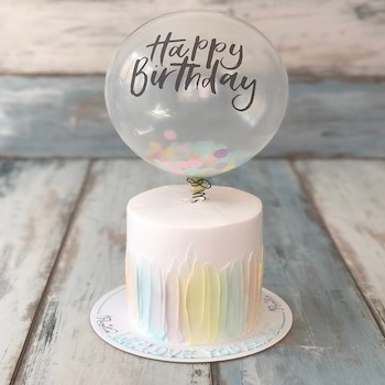 Pastel Ballon Cake