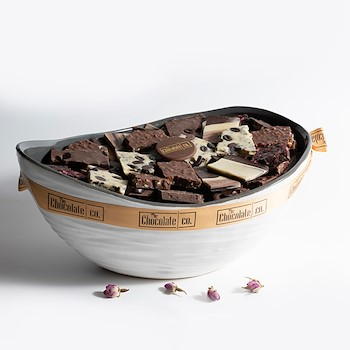 Chocolate White Bowl