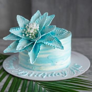 Blue Lily Cake