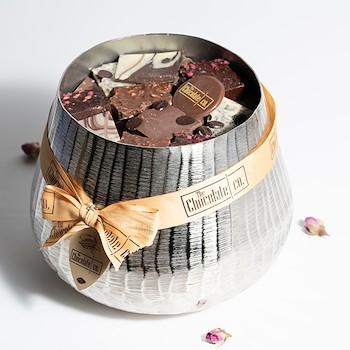 Chocolate Silver Bowl