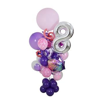 Purple Birthday Balloon