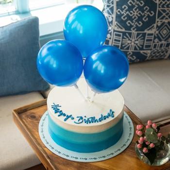 Balloons Cake Blue