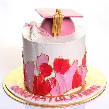 Pink Graduation Hat
