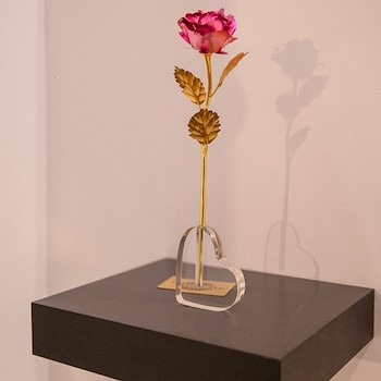 Gold Plated Rose I