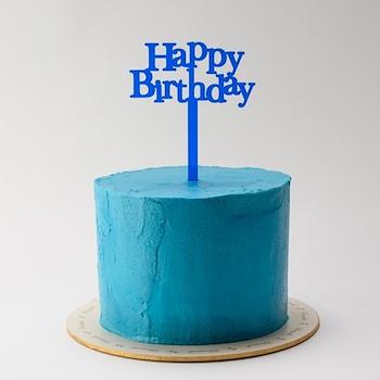 Neon Blue Cake