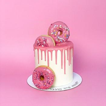 Petals Donut Cake