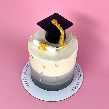 Petals Graduation Cake