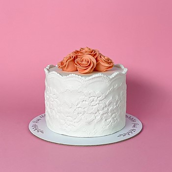 Lace Flowers Cake